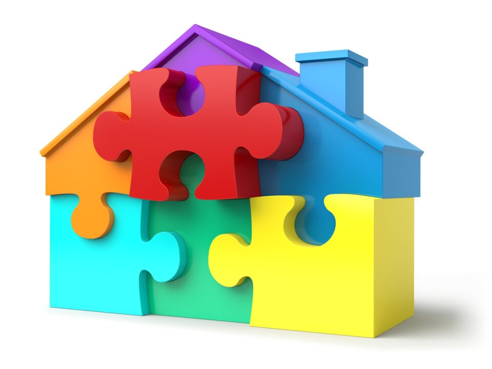 Puzzle Pieces House Shape Real Estate Jigsaw Puzzle