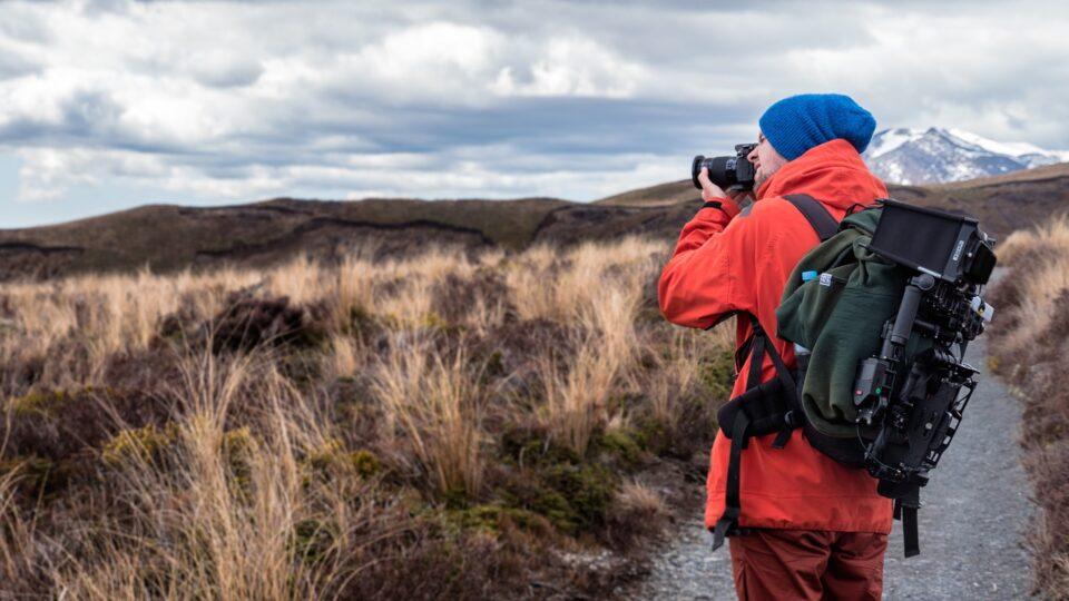 Photographer Backpacker Nature Photography Camera