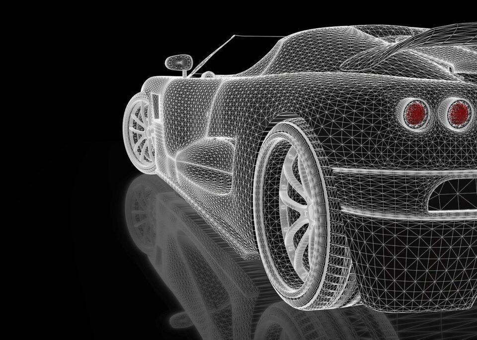 Car Three-Dimensional Vehicle Shape Render View