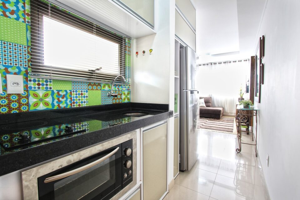 Kitchen Hall Oven Home Apartment Modern Apartment
